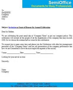 sample invitation letter to chief guest semiofficecom page