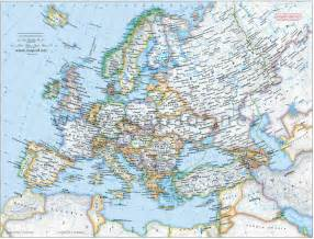 Detailed Map Of Europe by Map Europe Cities