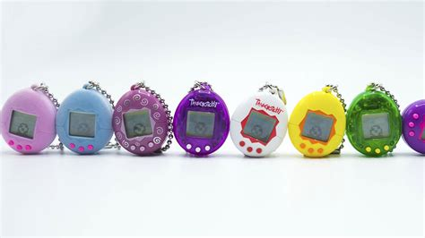 90s colors tamagotchi is back with 90s colors and flocked styles