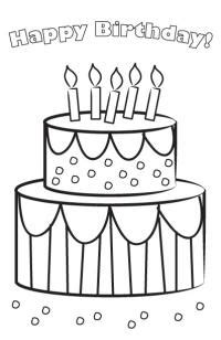 brithday card coloring page template birthday cards to color lovetoknow