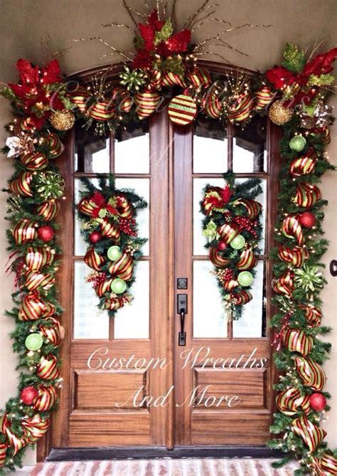 christmas door garland  custom wreaths   front