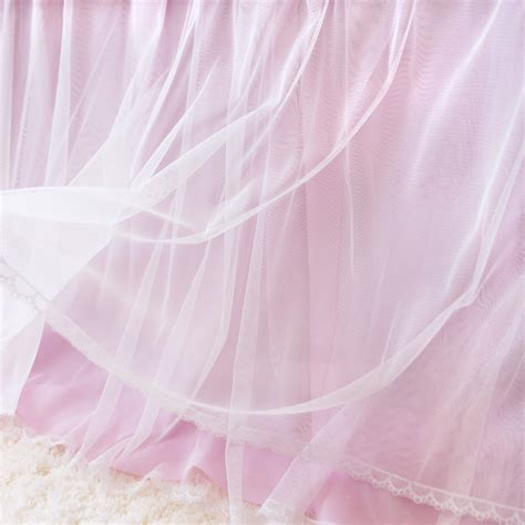 pink bed skirt full pink bedskirt