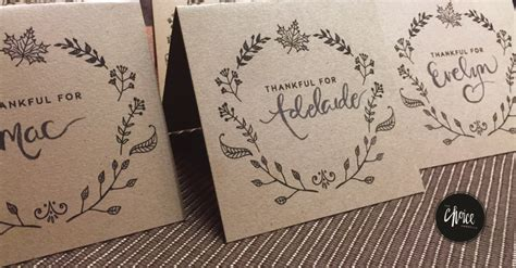 Dinner Place Cards Template Free by 6 Last Minute Ways To Set A Beautiful Thanksgiving Table