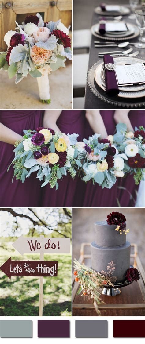 September Wedding Idea by Top 5 Fall Wedding Colors For September Brides