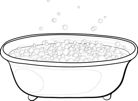 Foam Soap For Bathtub Alte Badewanne Mit Blasen Seifenlauge Konturen Stock