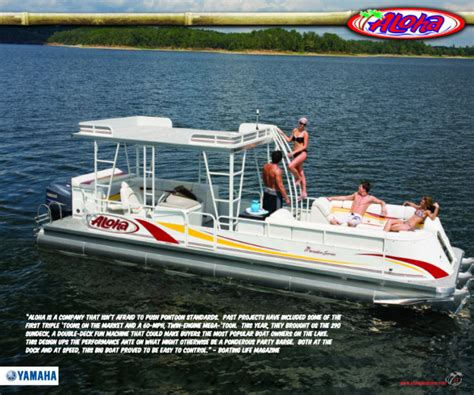 aloha pontoon research 2010 aloha pontoon boats paradise series 290