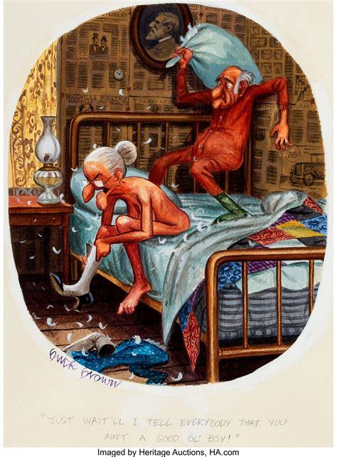 buck brown playboy september  granny cartoon illustration lot  heritage auctions