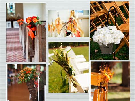 fall pew decorations for weddings brockville wedding planner 187 archive 187 fall aisle style