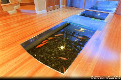 how to make an indoor fish pond indoor outdoor koi pond koi pond indoor pinterest