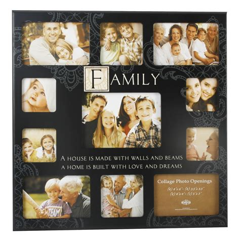 family collage photo frames family large black mdf collage multi photo frame 11 x