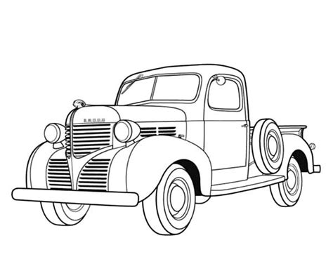 coloring pages of antique cars dodge pickup 1939 antique car coloring pages best place