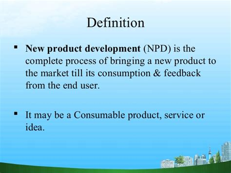 product definition of product by the free dictionary new product development npd
