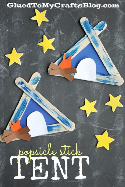 tent craft for popsicle stick tent kid craft glued to my crafts