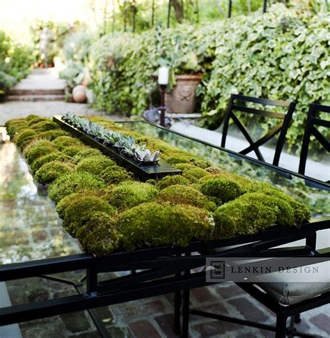 moss table runner ecological design architecture
