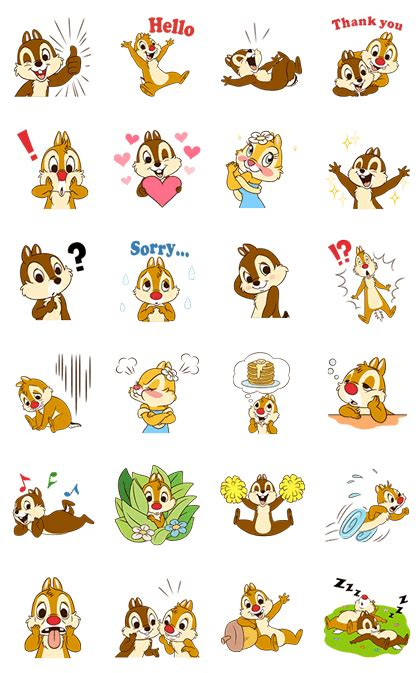theme line android chip n dale chip ʹnʹ dale animated voice line stickers for