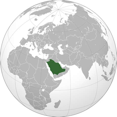 where is saudi arabia on the world map location of the saudi arabia in the world map
