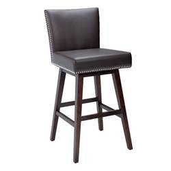 Bar Stools Vintage Leather Swivel Bar Stool Brown Buy Leather Bar