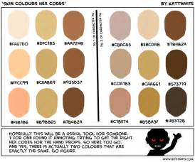 skin color code skin color hex code brown hairs