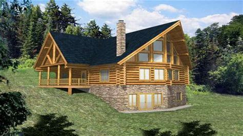 2 Story House Plans With Walkout Basement by Log Home Plans With Walkout Basement Log Home Plans With
