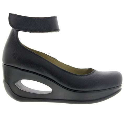 fly shoes fly heli 797 fly mousse wedge black womens shoes ebay