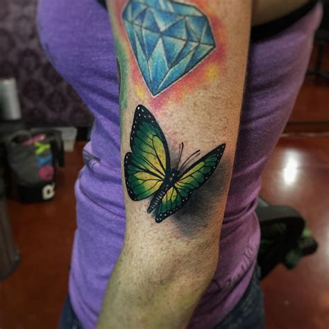 tattoo butterfly green green butterfly 3d tattoo best tattoo ideas gallery