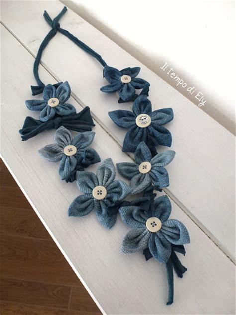 collana di fiori tutorial riciclo creativo come fare collana di fiori da