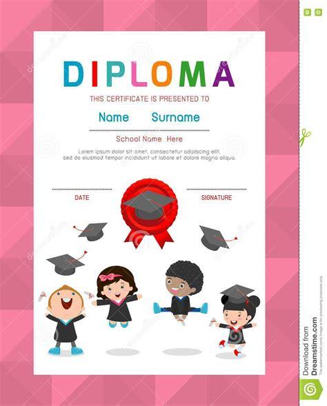 design graduation certificate certificates kindergarten and elementary preschool kids