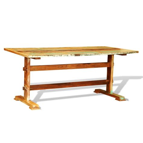 Vintage Style Dining Table Reclaimed Wood Dining Table Vintage Antique Style Vidaxl Co Uk