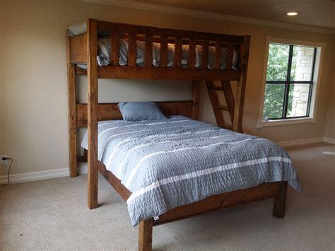 rustic barnwood texas bunk bed twin  queen rustic
