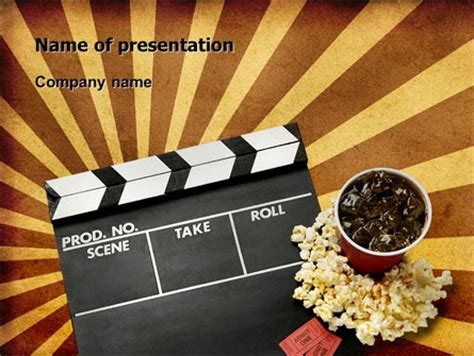 templates ppt cinema films and cinema presentation template for powerpoint and