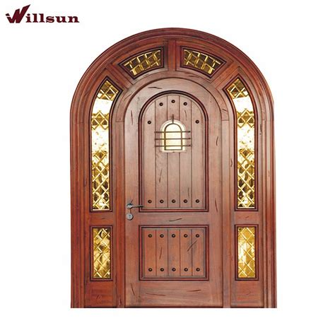 solid wooden exterior doors staggering exterior wooden doors arched design