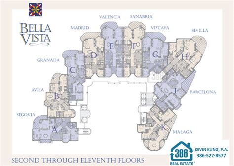 bella vista floor plans bella vista floor plans daytona beach shores condos for sale