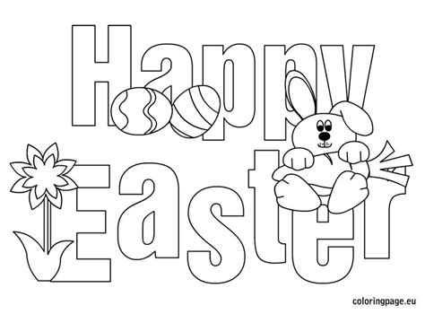 Happy Easter Coloring Page happy easter coloring pages printables