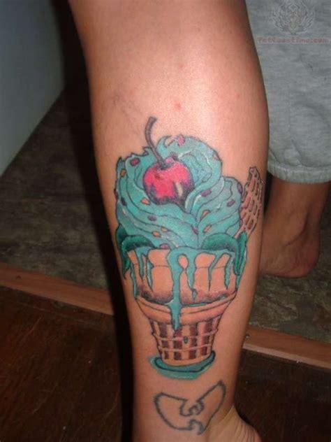 ice cream cone tattoo school cone on wrist