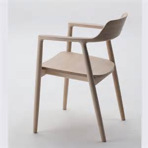 Modern Wooden Chair Front View Hiroshima Arm Chair Wooden Seat Maruni Switch Modern