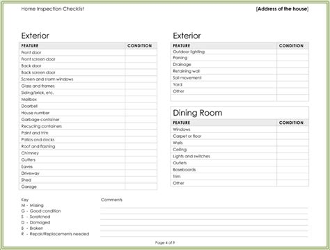 home inspection checklist template the gallery for gt home inspection checklist template