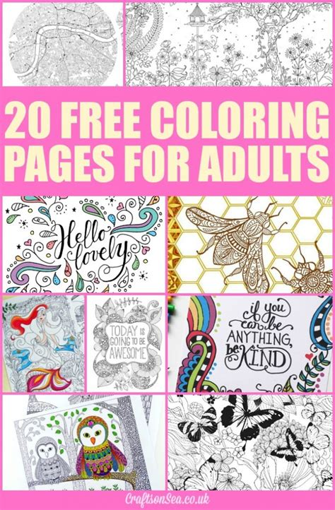 colouring books for adults free free printable coloring pages for adults money saving 174