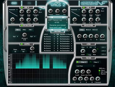 best free vst synth vacs2 free subtractive synthesizer vst plugin by noizefield