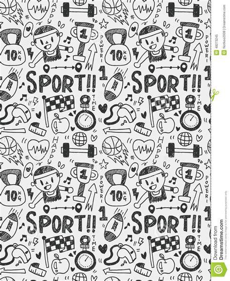 doodle sport sport elements doodles line icon eps10 stock