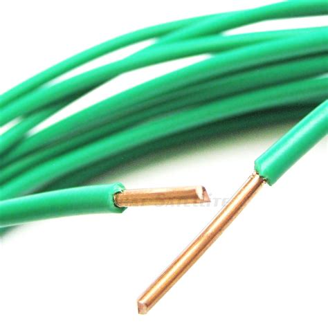 50ft made in the usa 12awg green thhn pvc jacketed solid