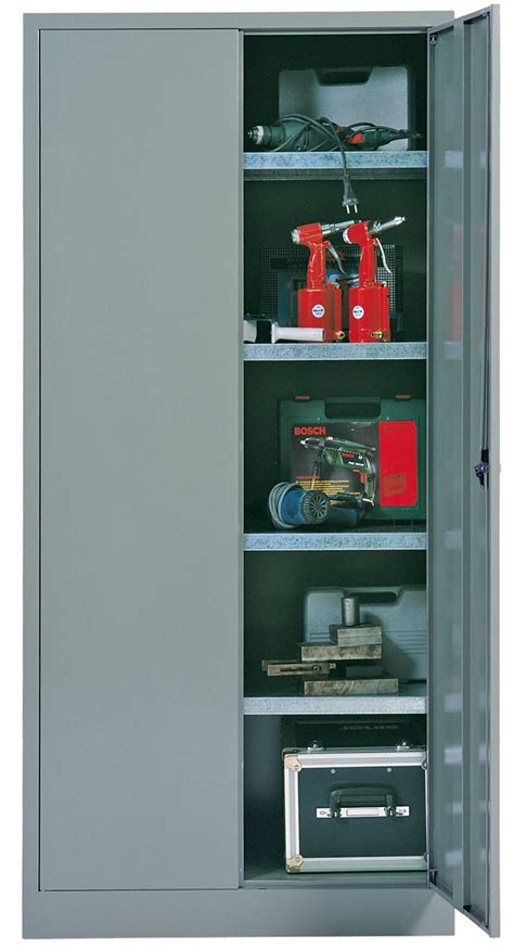 armoire metallique atelier armoire metallique d atelier 2 portes battantes 4 tablettes