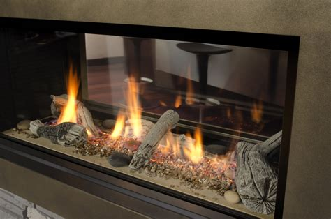 Gas Fireplace 2 Sided by Valor L1 Linear 2 Sided Sutter Home Hearth