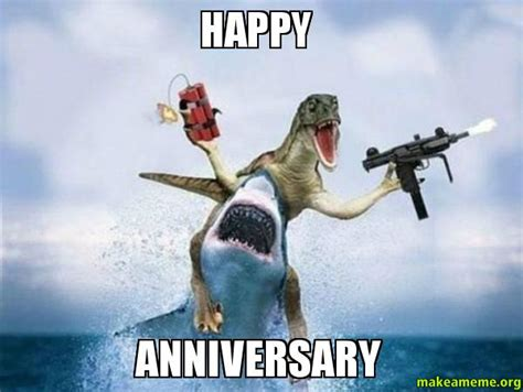 Wedding Anniversary Meme - funny happy work anniversary meme