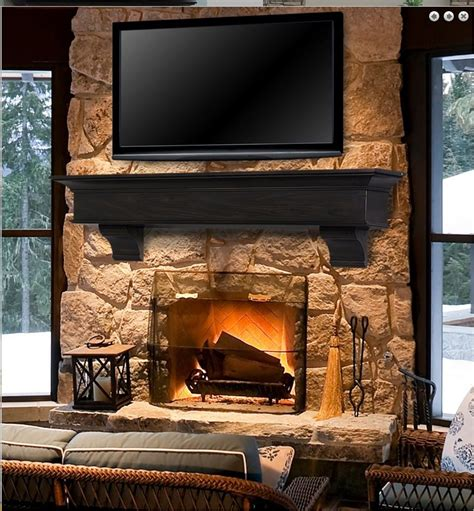 pearl mantel manhattan 72 quot oak fireplace mantel or tv