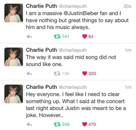 charlie puth i just want to touch you lyrics charlie puth says f you to justin bieber says sorry