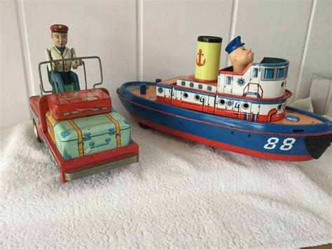 car boat from the 1960s modern toys japan boat and suitcase car 1960s catawiki