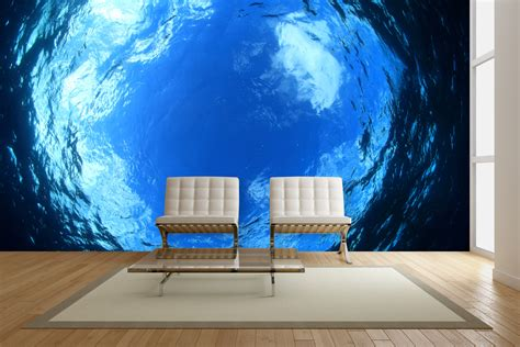 wallpaper cool walls exotic underwater wall mural ideas for your living rooms
