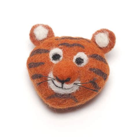 Handmade Felt Animals - handmade felt animal brooch by felt so