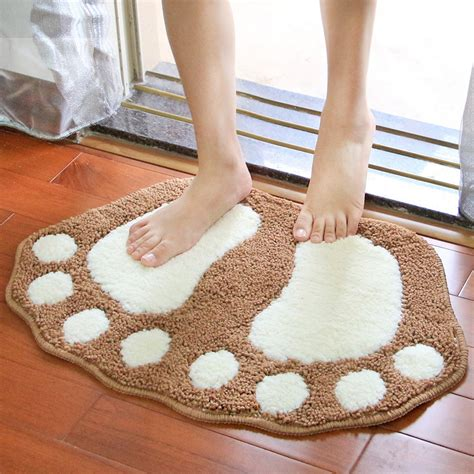Bathroom Carpet By The Foot Aliexpress Buy Lovely Flocking Mats Doormat