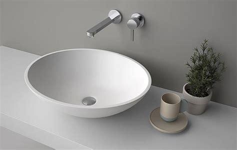 lavandino corian lavabo da appoggio in corian lavabo tondo o ovale concave